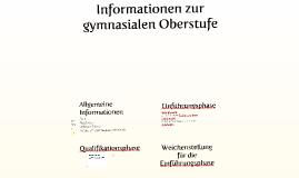 Informationen zur gymnasialen Oberstufe Jg. 9 _ Mai