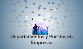 Departamentos y Puestos en Empresas