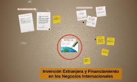 :  Inversión Extranjera y Financiamiento en los negocios int