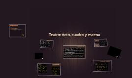 Teatro: Acto, cuadro y escena