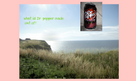 what dr. pepper is made out of