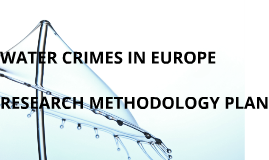 WATER CRIMES IN EUROPE