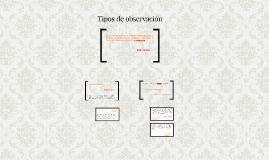 Copy of Tipos de observación