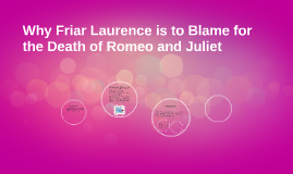 friar lawrence is not to blame essay Read this free literature essay and other term papers laurence is to blame if everything was thought about clearly and not rushed.