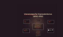 Literaturepoche Impressionismus