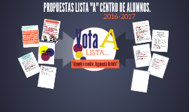 "PROPUESTAS LISTA ""A"" CENTRO DE ALUMNOS."
