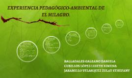EXPERIENCIA PEDAGÓGICO-AMBIENTAL DEL COLECTIVO DE LA FINCA A