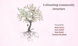 Estimating community structure