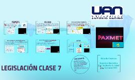LEGISLACIÓN CLASE 7