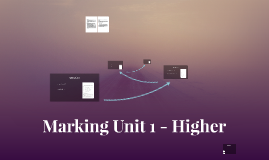 Marking Unit 1 - Higher