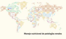 Manejo nutricional de patologías renales