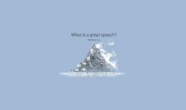 What is a greet speech?