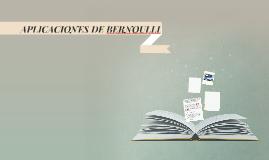 APLICACIONES DE BERNOULLI