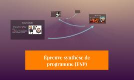 Épreuve synthèse de programme (ESP)