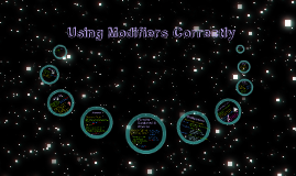 Copy of Using Modifiers Correctly