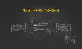 Nuevos formatos radiofónicos