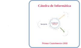 Inscripción Informática - Primer Cuatrimestre 2018