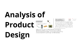 Analysis of Product Design