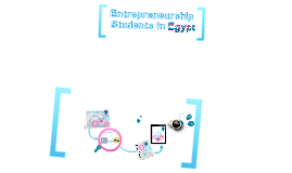 Entrepreneurship Students in Egypt
