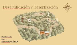 Desertificación y Desertización