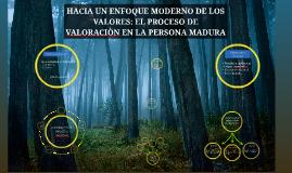 HACIA UN ENFOQUE MODERNO DE LOS VALORES: EL PROCESO DE VALOR