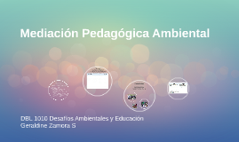 Mediación Pedagógica Ambiental