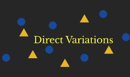 Direct Variations