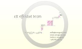 Att bygga effektiva team