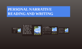 PERSONAL NARRATIVE READING AND WRITING