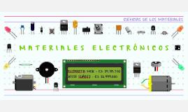 MATERIALES ELECTRÓNICOS