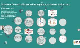 Sistemas de retroalimentación negativa y sistema endócrino.