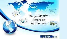 Stages AIESEC : Amphi de recrutement