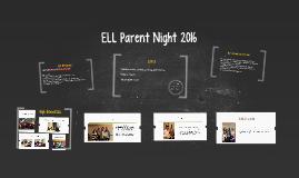 ELL Parent Night 2015