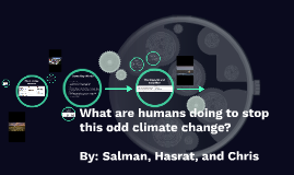 What are humans doing to stop this odd climate change?