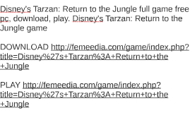 Disney's Tarzan: Return to the Jungle full game free pc, dow