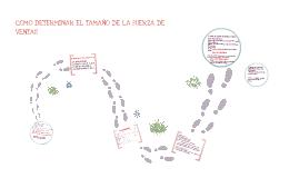 Copy of COMO DETERMINAR EL TAMAÑO DE LA FUERZA DE VENTAS?