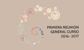 PRIMERA REUNIÓN GENERAL CURSO 2014-2015
