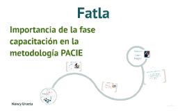 Importancia de la fase capacitación en la metodología PACIE