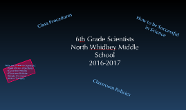 6th grade Policies and Procedures 2016-2017
