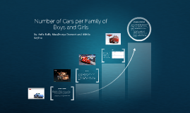 Number of Cars per family of boy and girls