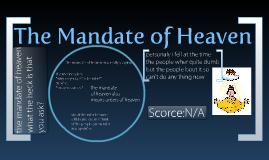 The Mandate of Heaven