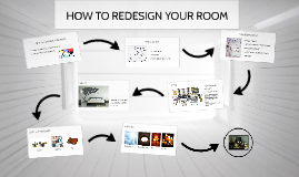 HOW TO REDESIGN YOUR ROOM: