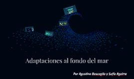 Fenómenos adaptativos en el fondo del mar