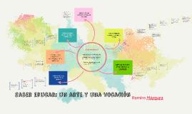 saber educar: un arte y una vocación