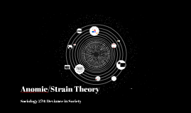 Anomie/Strain Theory