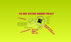 Body Systems Assignment