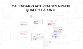 CALENDARIO DE ACTIVIDADES NPI-EPI QUALITY LAR INTL