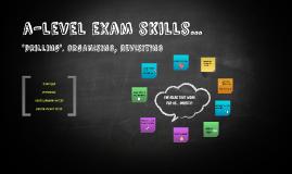 a-level exam skills