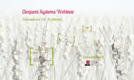 Webinar - Accessions for Archives (2013) [with audio]