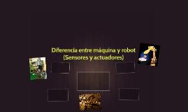 Diferencia entre máquina y robot